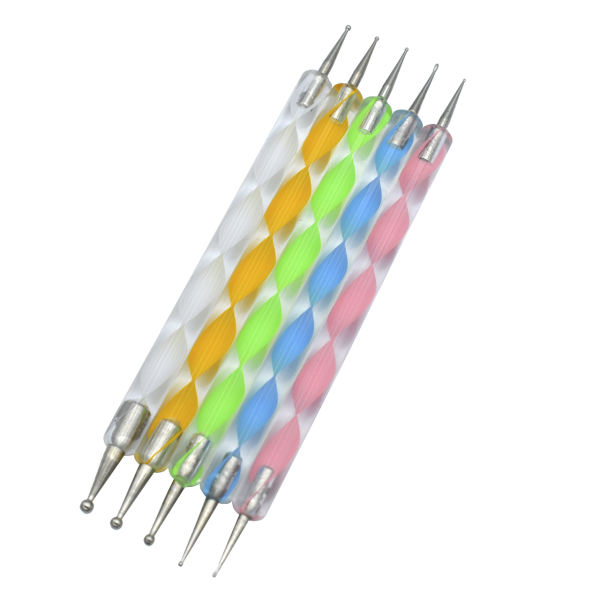 قلم طراحی ناخن مدل داتینگ مجموعه 5 عددی