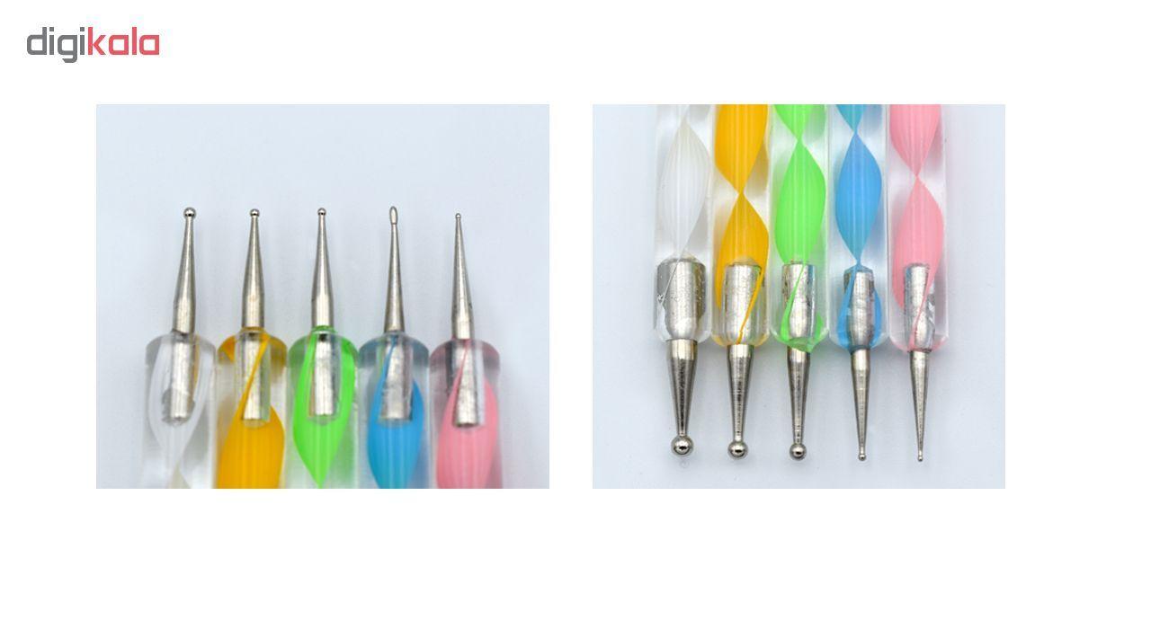قلم طراحی ناخن مدل داتینگ مجموعه 5 عددی main 1 3