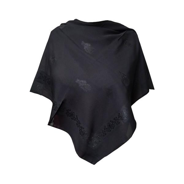 روسری زنانه توتو مدل گل برجسته 02