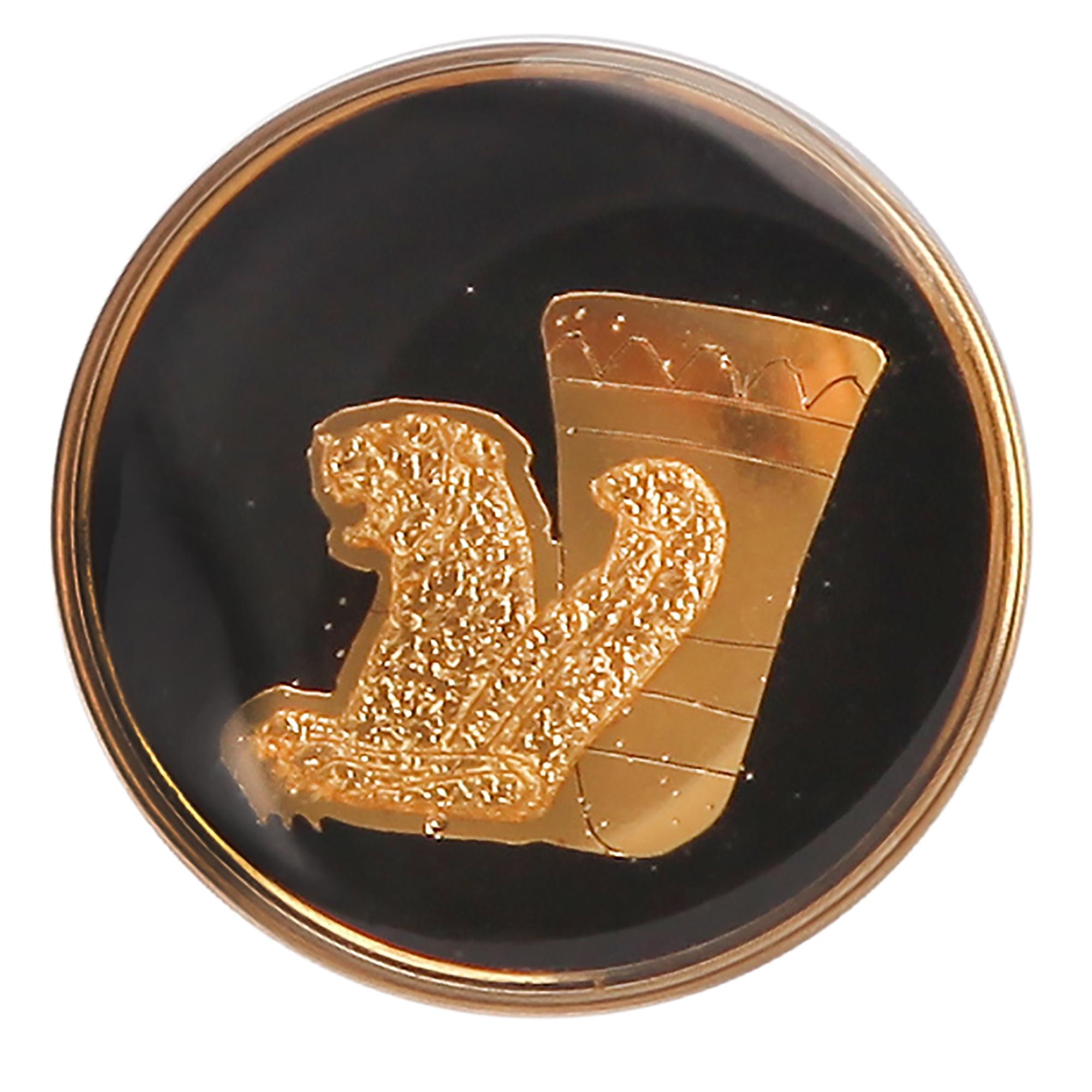 بج سینه طلا گالری الون طرح ریتون کد 198304