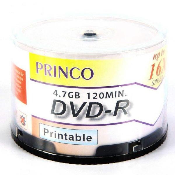 دی وی دی خام پرینکو پرینتیبل مدل DVD-R بسته 50 عددی