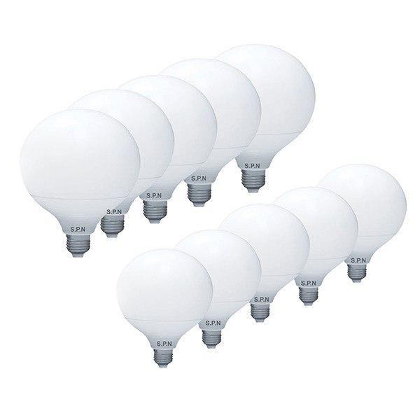لامپ ال ای دی 20 وات اس پی ان مدل حبابی G120 پایه E27 بسته 10 عددی