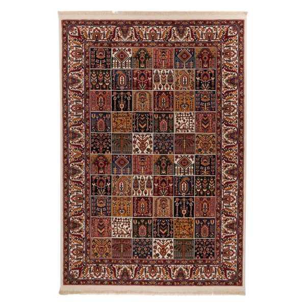 فرش ماشینی دنیای فرش کد 521K زمینه کرم