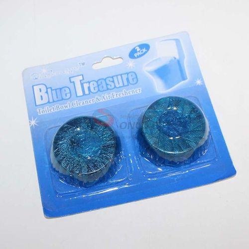 پک قرص جرم گیر و خشبو کننده توالت فرنگی مدل Blu Treasure بسته 2 عددی