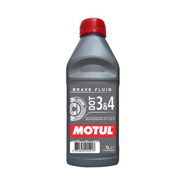 روغن ترمز موتور سیکلت موتول مدل DOT 3&4 حجم 1 لیتر