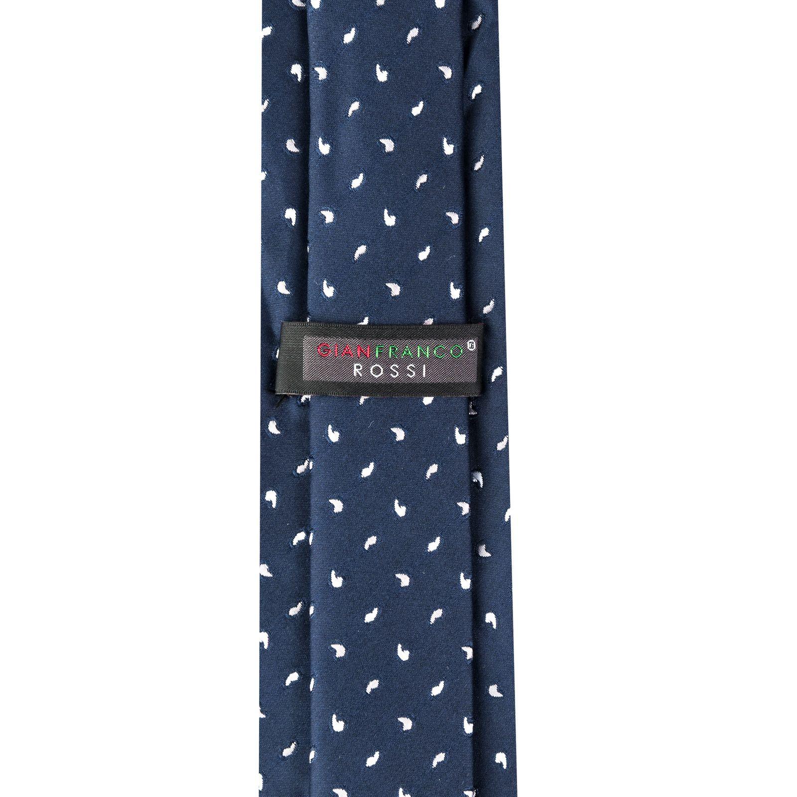 ست کراوات و دستمال جیب و گل یقه مردانه جیان فرانکو روسی مدل GF-PA935-DB -  - 6