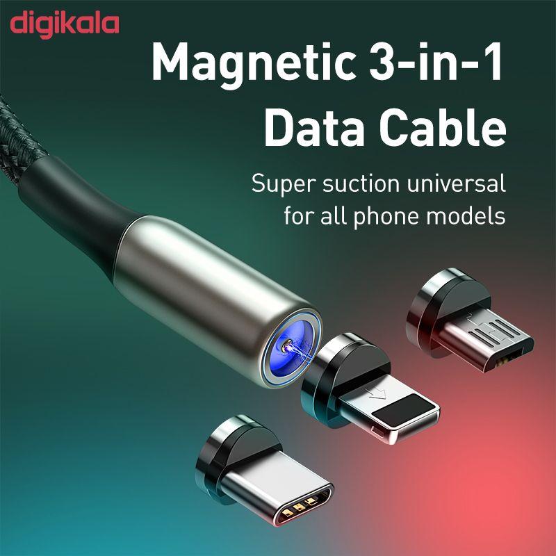 کابل تبدیل USB به USB-C / microUSB / لایتنینگ باسئوس مدل TZCAXC-G01 طول 2 متر main 1 1