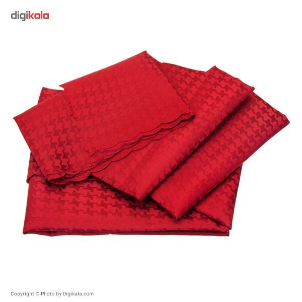 رومیزی پلی استر مربعی 150 × 150 رزین تاژ طرح کنزو