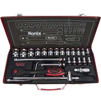 مجموعه 24 عددی آچار بکس رونیکس مدل  RH-2624 با سری های 12 گوشه