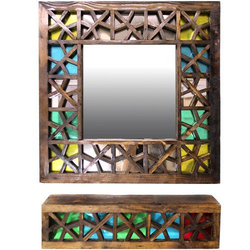 آینه و کنسول گالری دست نگار طرح گره چینی کد 02-25