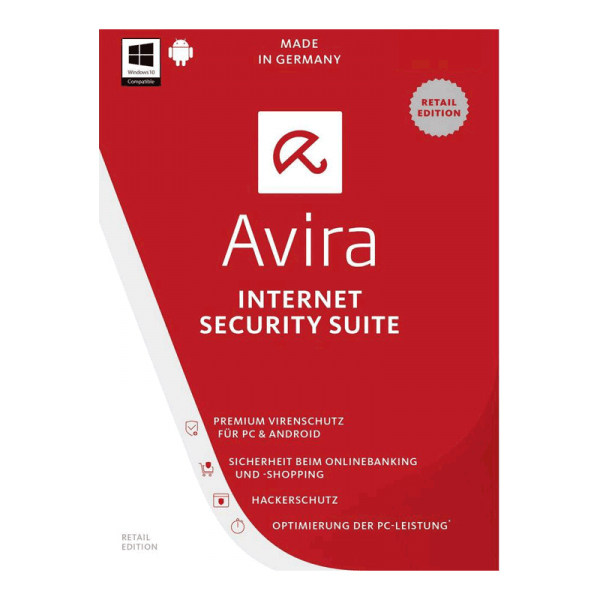 آنتی ویروس Internet Security Suite 2018 آویرا ، 1 کاربر، 1 ساله