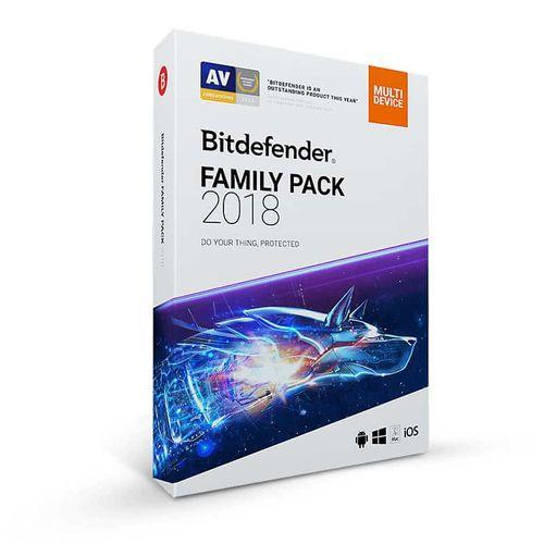 آنتی ویروس بیت دیفندر Family Pack 2018 کابر نامحدود یک ساله