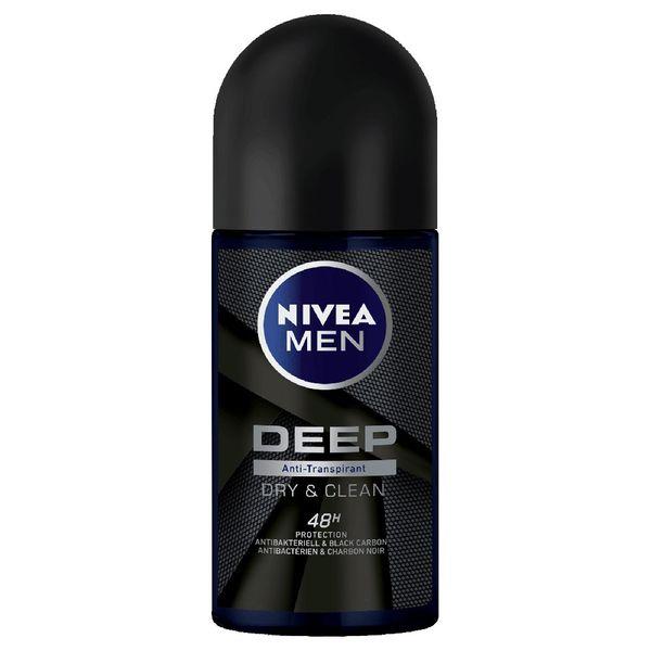 رول ضد تعریق مردانه نیوآ مدل deep dry& clean feel حجم 50 میلی لیتر