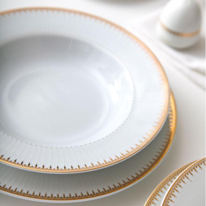 سرویس غذاخوری 28 پارچه چینی زرین ایران سری ایتالیا اف مدل Sepidar درجه یک