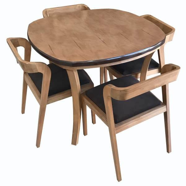 میز و صندلی ناهار خوری چوبی اسپرسان چوب کد  z02 |