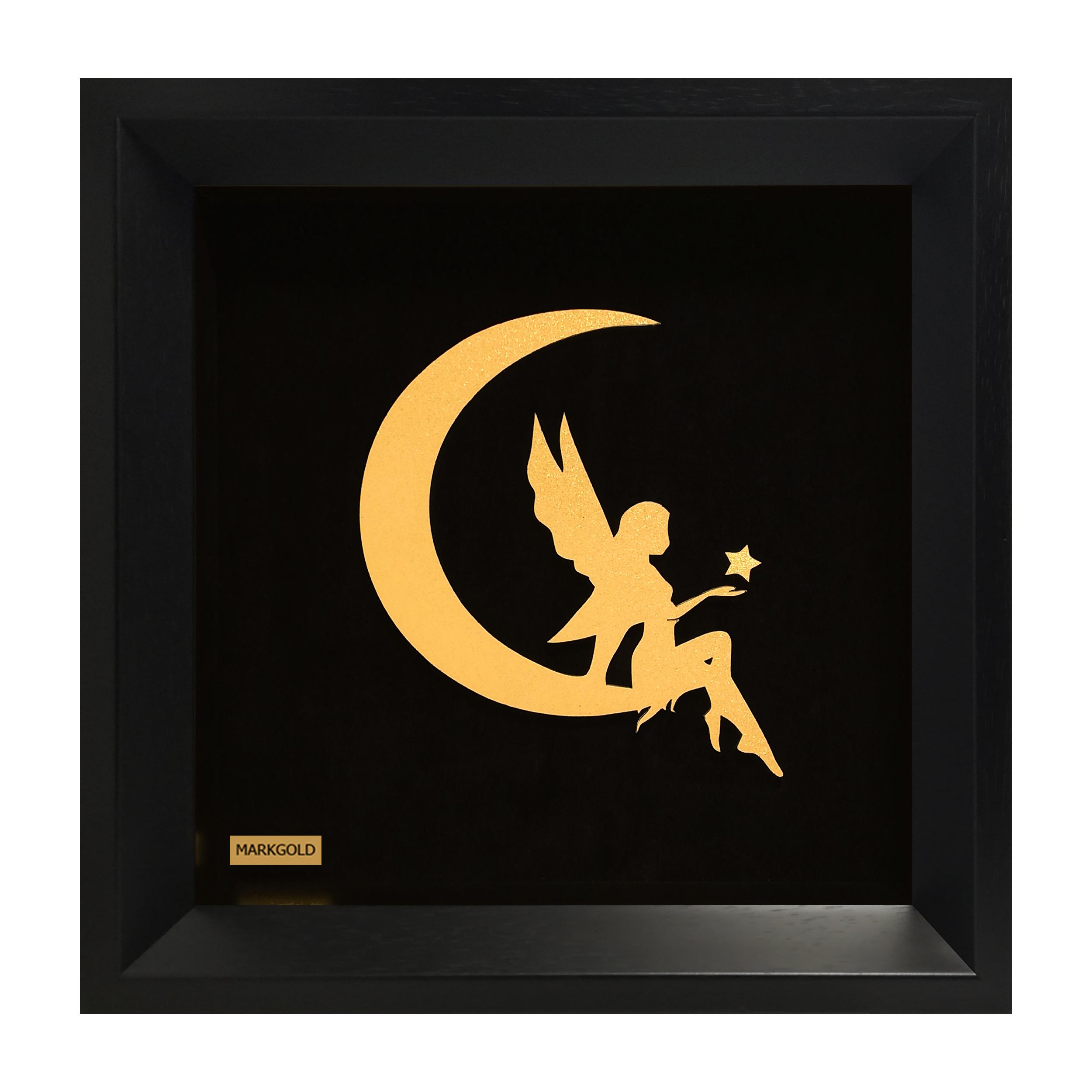 تابلو ورق طلا مارک گلد طرح ماه و فرشته کد TF07