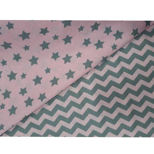 پارچه ملحفه طرح ستاره ای زیگزاگ