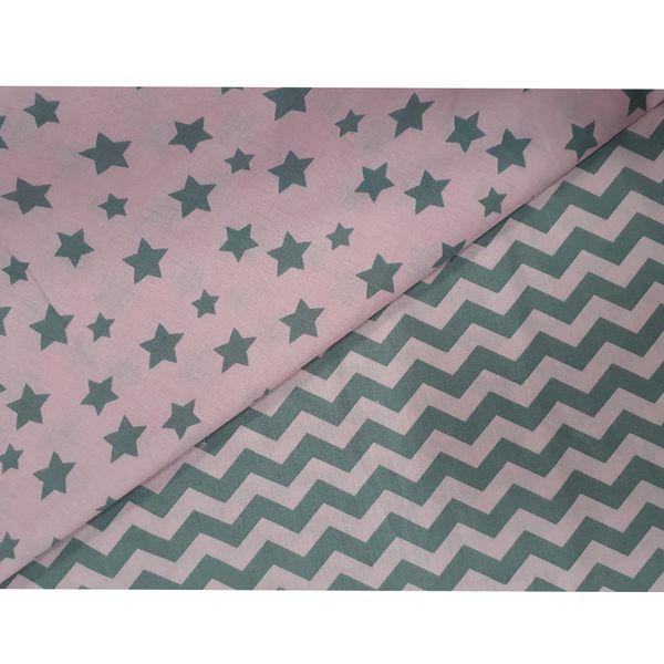 پارچه ملحفه طرح ستاره ای زیگزاگ |