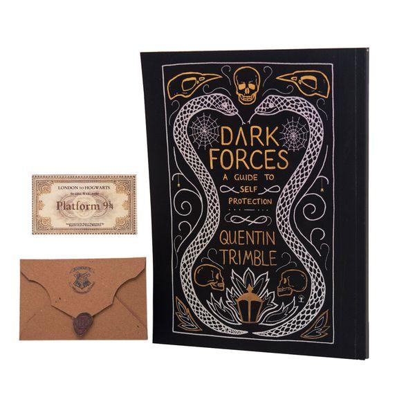 دفتر یادداشت بیگای استودیو طرح کتاب دفاع شخصی در برابر جادوی سیاه هری پاتر به همراه پاکت ونامه هاگوارتز |
