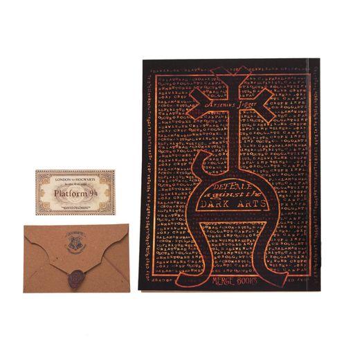دفتر بیگای استودیو طرح کتاب دفاع در برابر جادوی سیاه هری پاتر به همراه پاکت ونامه هاگوارتز