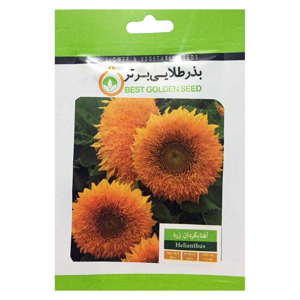 بذر گل آفتابگردان زرد بذر طلایی برتر کد BZT-01