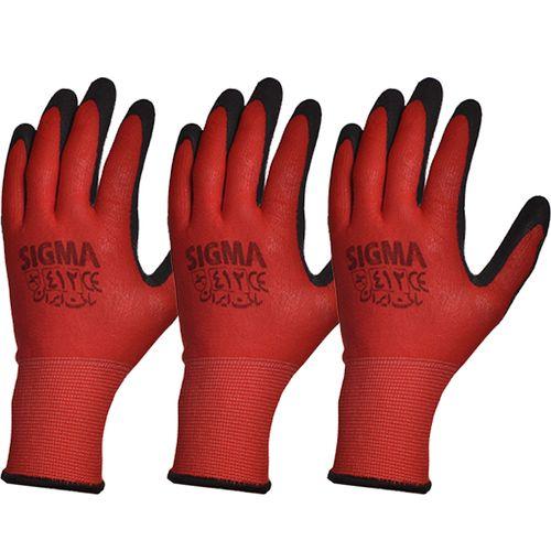 دستکش ایمنی سیگما کد 412 بسته 3 جفتی