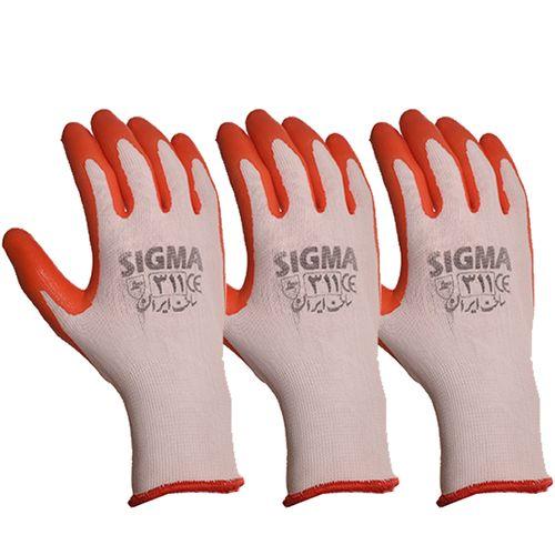 دستکش ایمنی سیگما کد 311 بسته 3 جفتی
