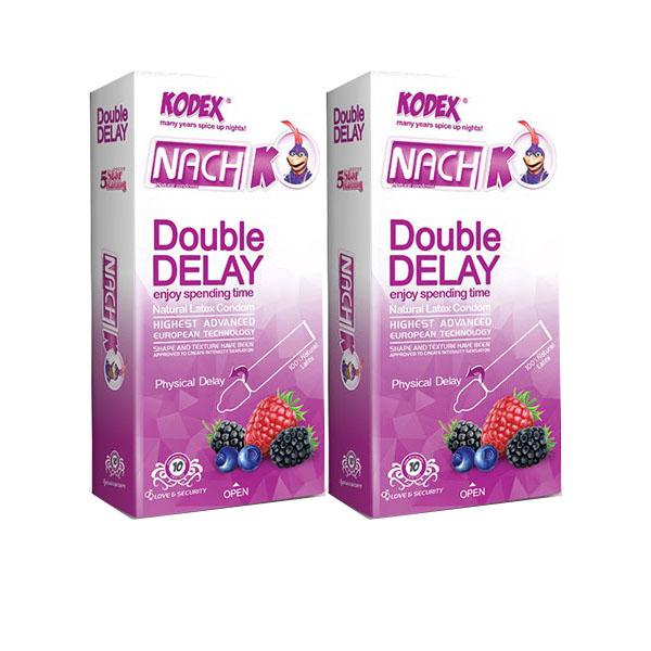 کاندوم تاخیری دوبل ناچ کدکس مدل Double Delay دو بسته 10 عددی