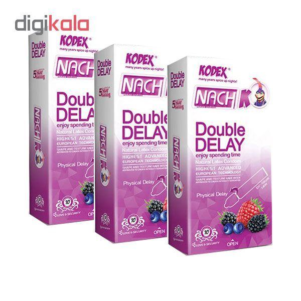 کاندوم تاخیری دوبل ناچ کدکس مدل Double Delay سه بسته 10 عددی main 1 1