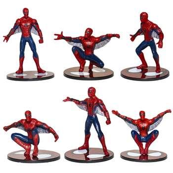 مجموعه فیگور مدل Spiderman ارتفاع 10 سانتی متری بسته 6 عددی
