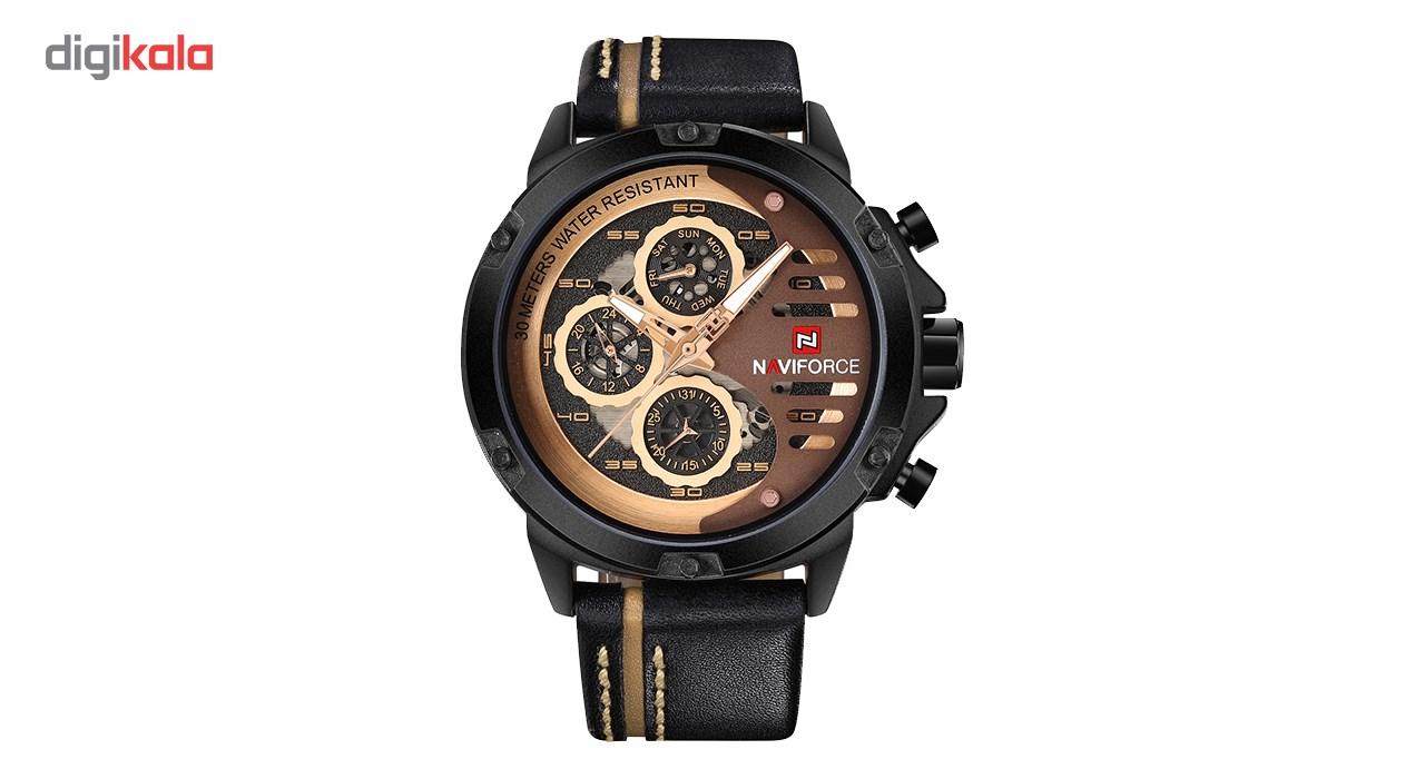 خرید ساعت مچی عقربه ای مردانه نیوی فورس مدل NF9110M/BRGBN