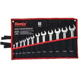 مجموعه 12 عددی آچار تخت رونیکس مدل RH-2202