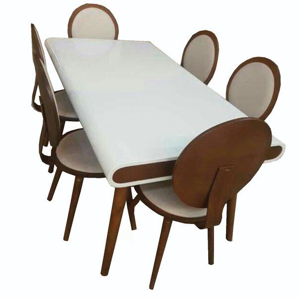 میز و صندلی ناهار خوری چوبی اسپرسان چوب کد  z04  