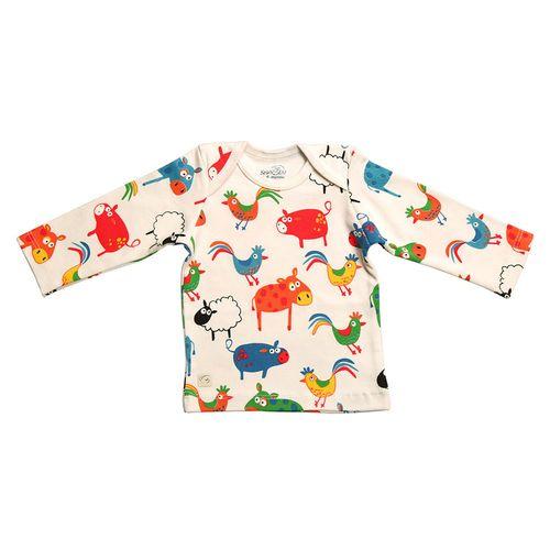 تی شرت آستین بلند نوزادی شابن طرح گوسفند