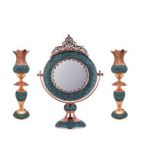 ست آینه و شمعدان فیروزه کوب کد 09