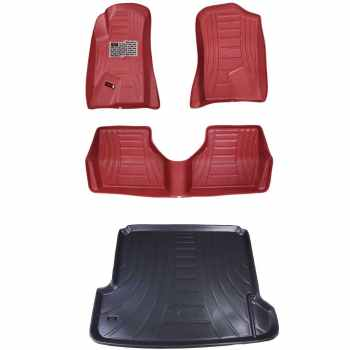 کفپوش سه بعدی خودرو مدل اکو مناسب برای پژو سمند دنا پارس به همراه کفپوش صندوق