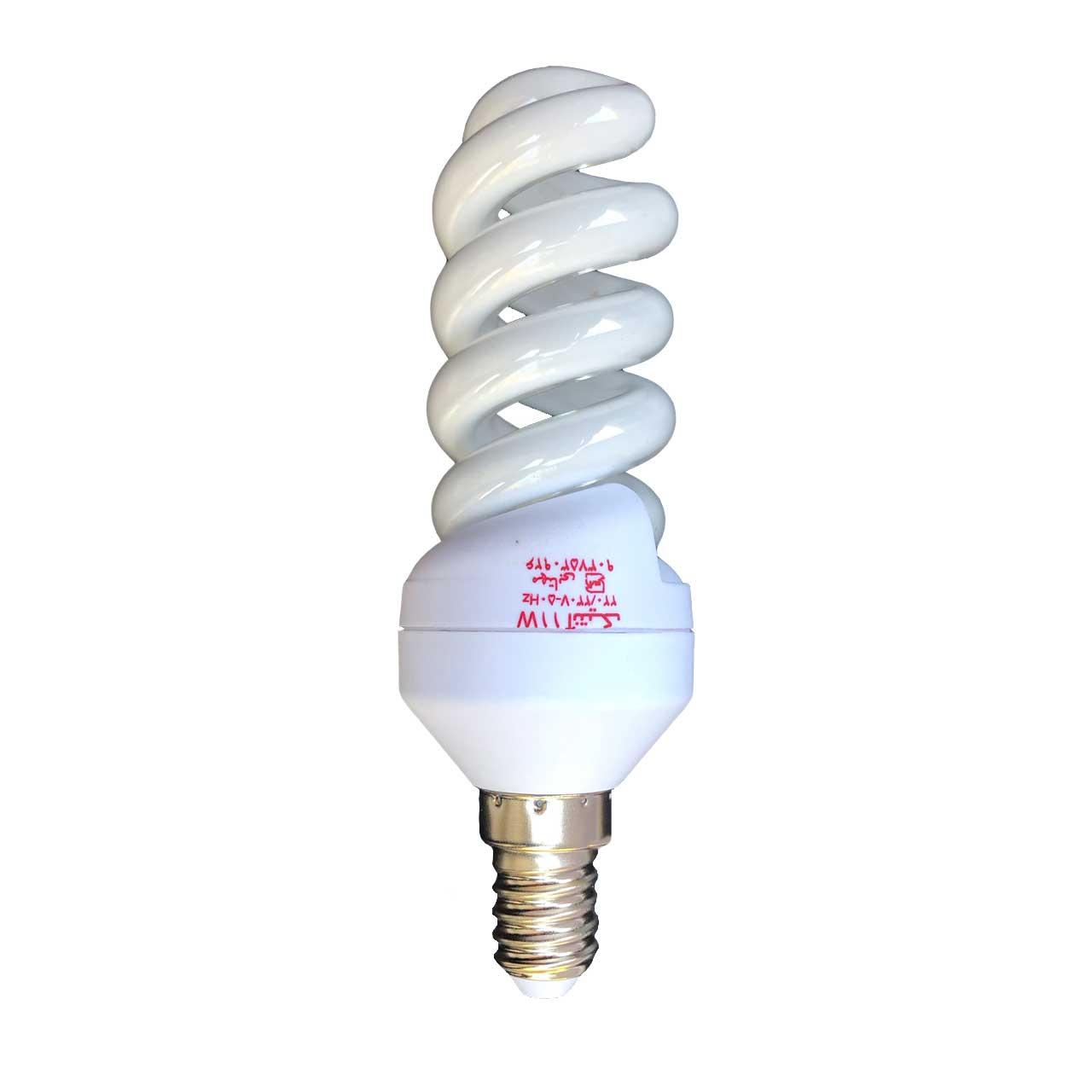 لامپ کم مصرف 11 وات آنتیک مدل تمام پیچ پایه E14