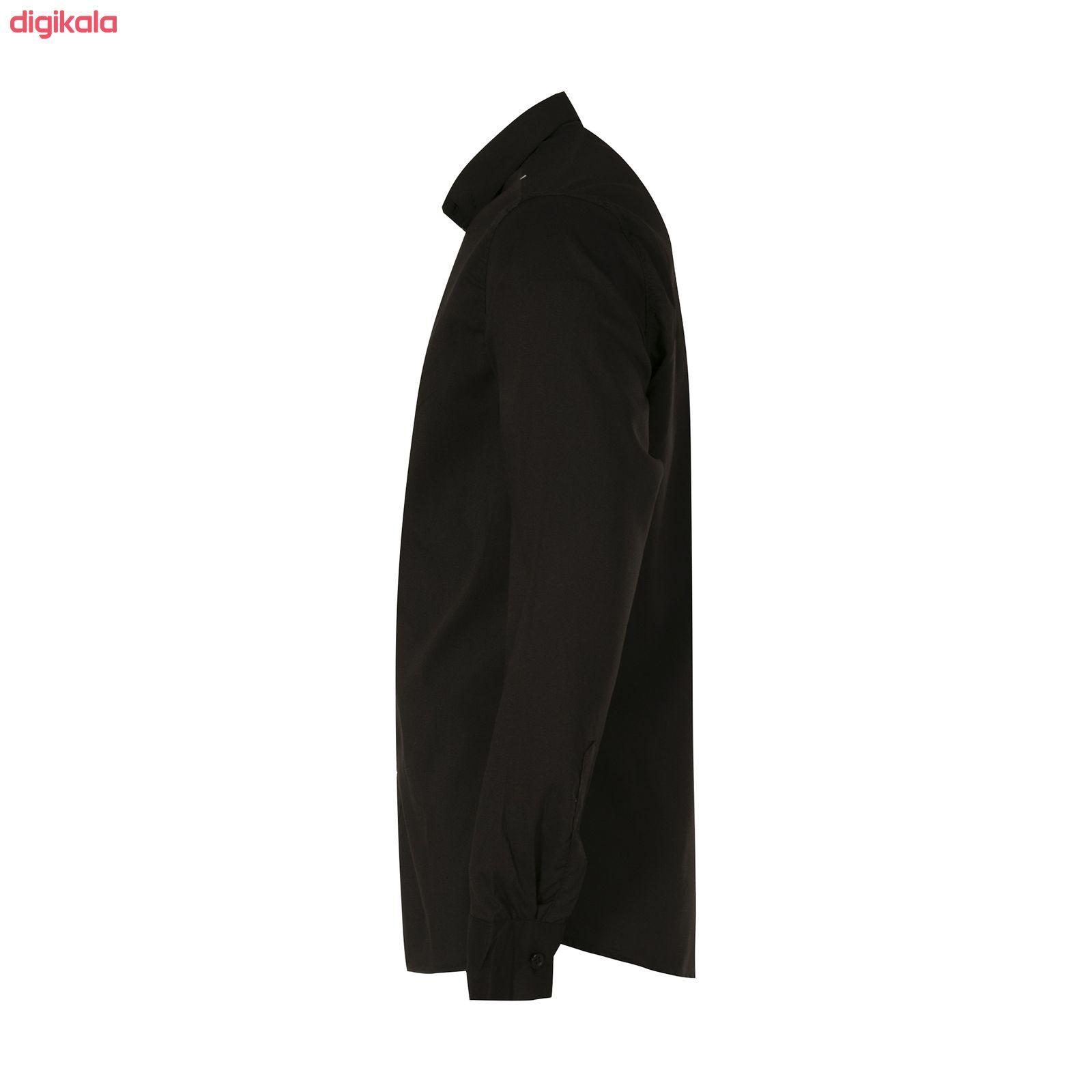 پیراهن آستین بلند مردانه کد PVLF BL-MIR-9906 رنگ مشکی main 1 1