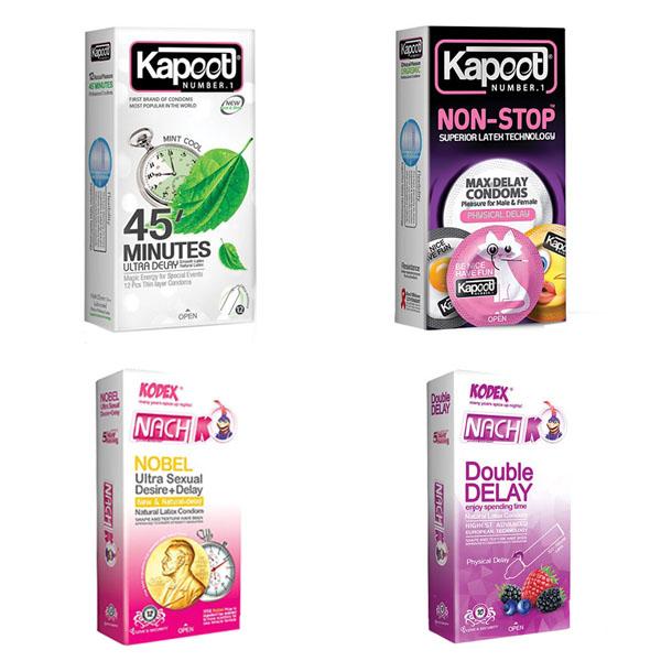 قیمت کاندوم کدکس مدل تاخیری مجموعه دو عددی به همراه کاندوم کاپوت مدل تاخیری مجموعه 2 عددی