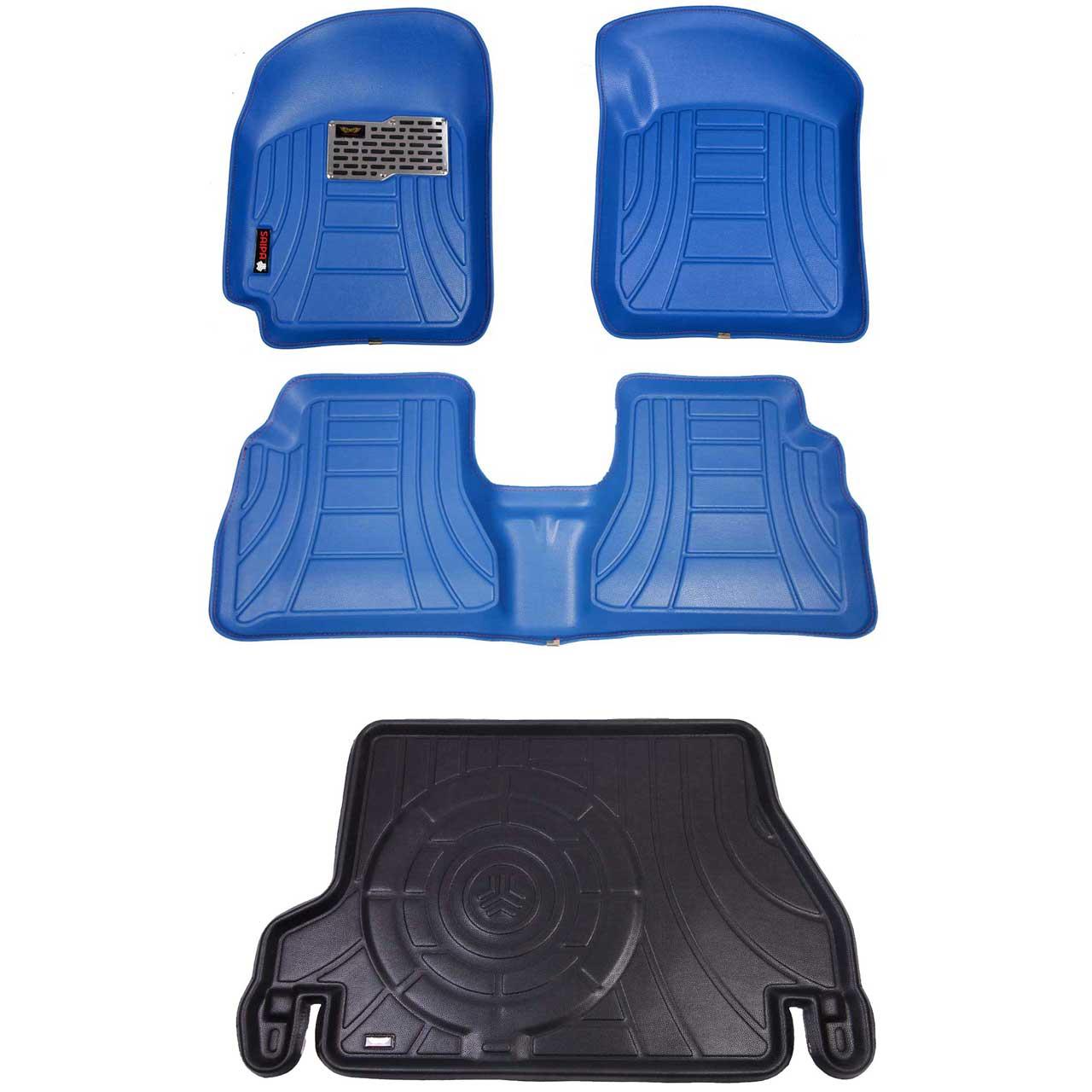 کفپوش سه بعدی خودرو مدل رویال مناسب برای پراید صندوق دار به همراه کفپوش صندوق