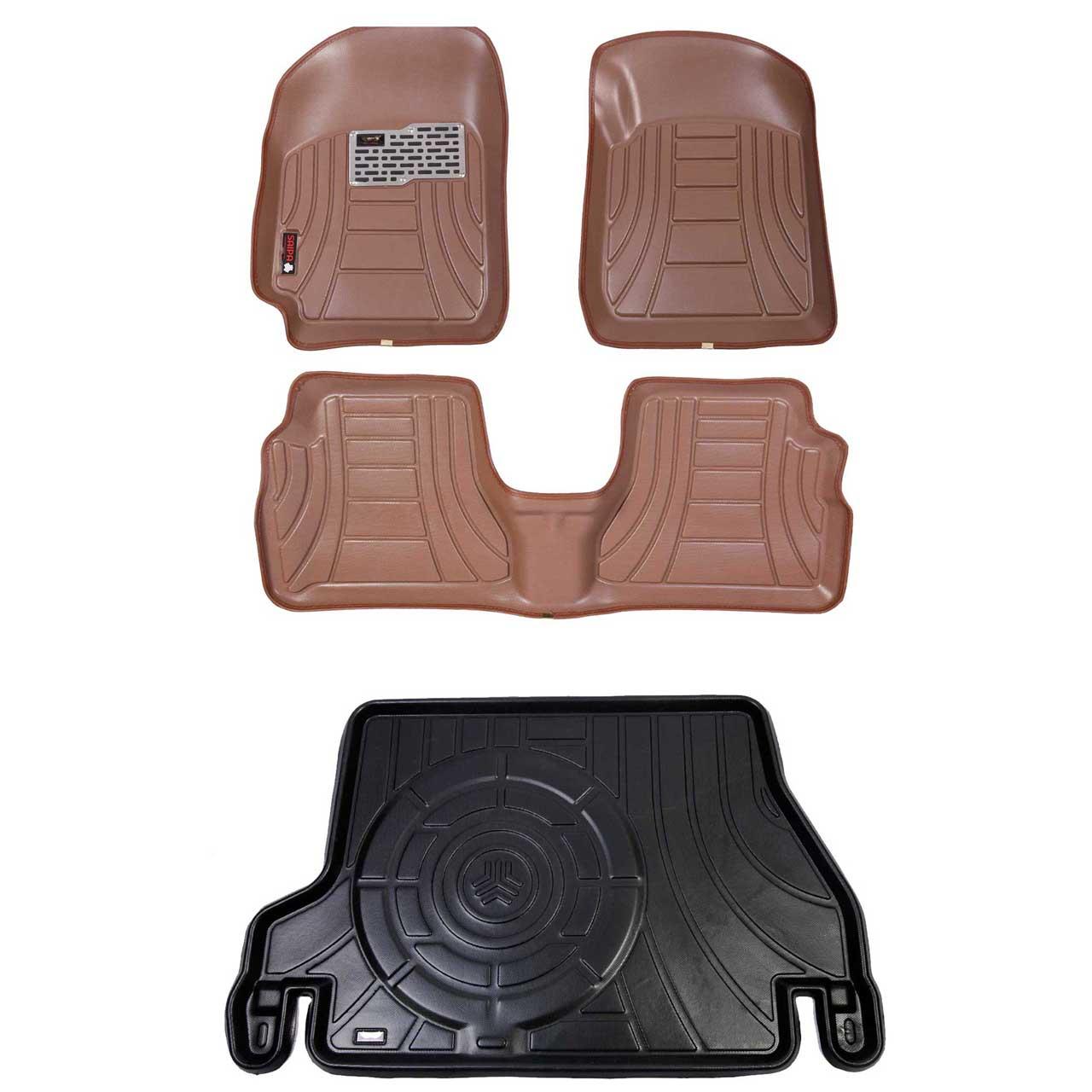 کفپوش سه بعدی خودرو مدل اکو مناسب برای پراید صندوق دار  به همراه کفپوش صندوق