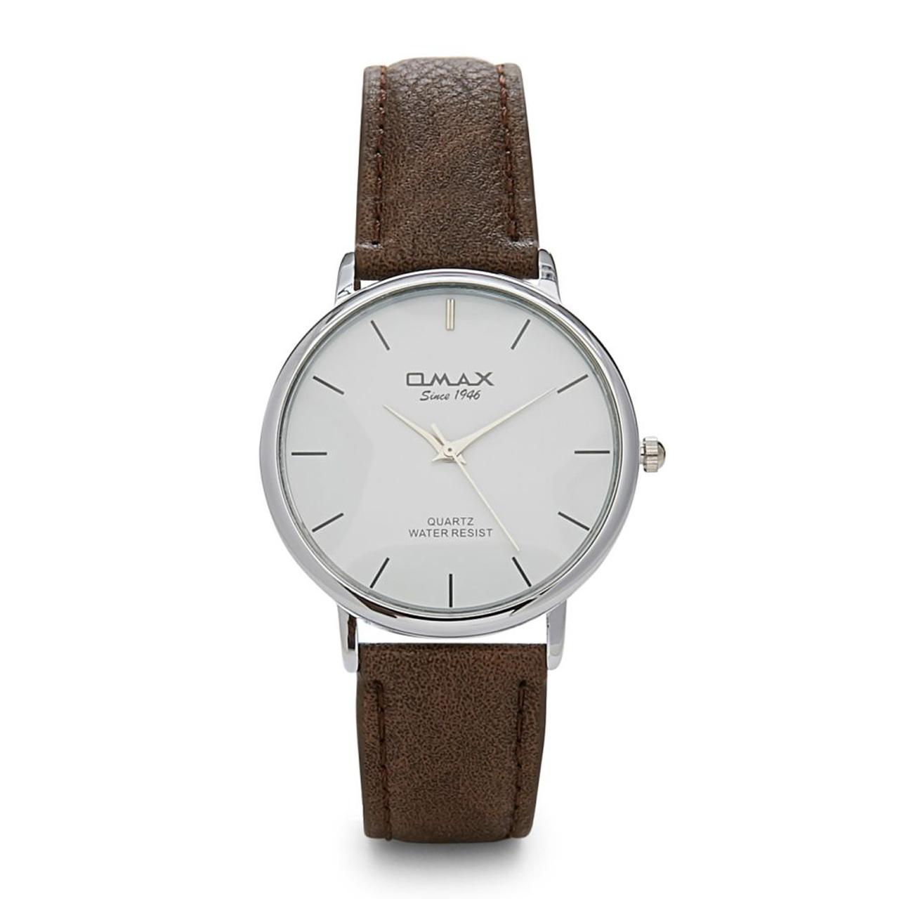 ساعت مچی عقربه ای مردانه اوماکس مدل 00SC7491IQ63 به همراه دستمال مخصوص برند کلین واچ