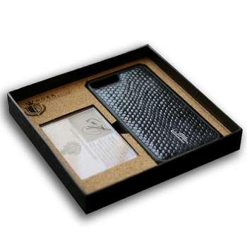کاور محافظ گوشی چرم طبیعی دوکا مدل FR-02 طرح مار مناسب برای اپل iPhone 7Plus/ 8Plus