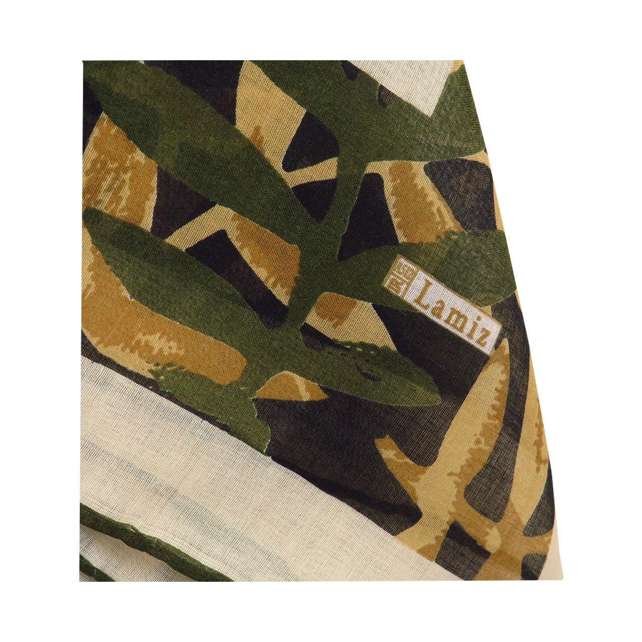 روسری زنانه لمیز مدل برگ  -  - 10