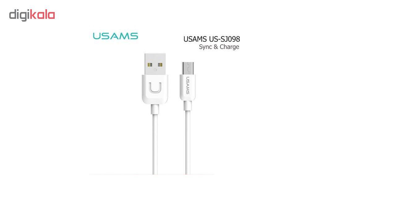 کابل تبدیل USB به microUSB یوسامز سری U-TURN مدل US-SJ۰۹۸ طول 1 متر