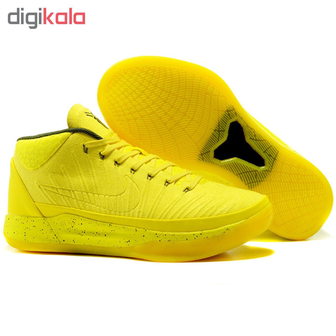 کفش ورزشی مخصوص دویدن و پیاده روی مردانه نایکی مدل  Kobe Yellow