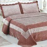 سرویس خواب کازاندرا سری برن طرح Light pink دو نفره 3 تکه