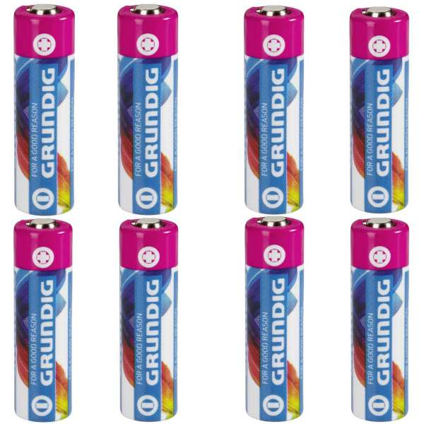 باتری نیم قلمی گراندیگ مدل Alkaline بسته 8 عددی