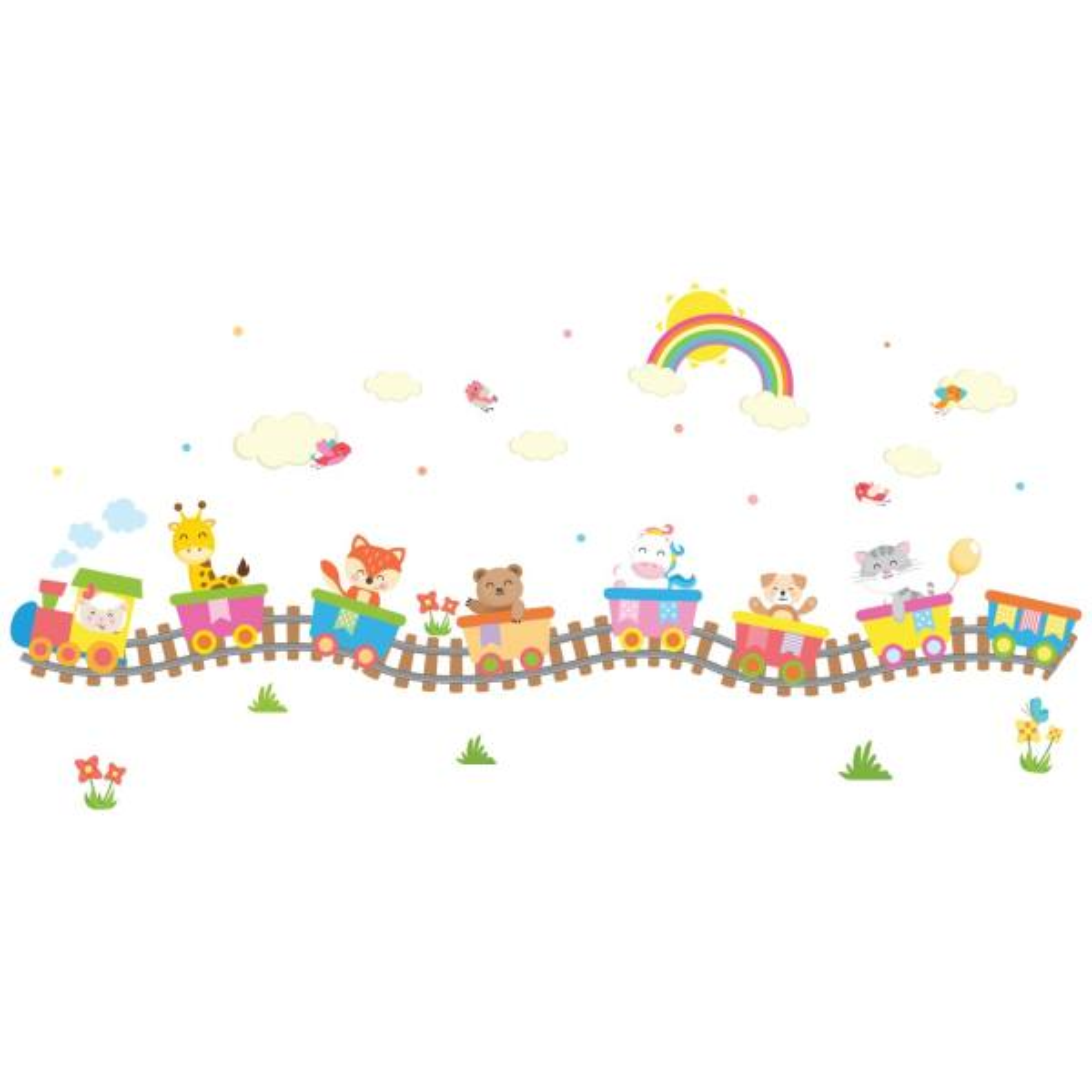 استیکر سالسو طرح Color train