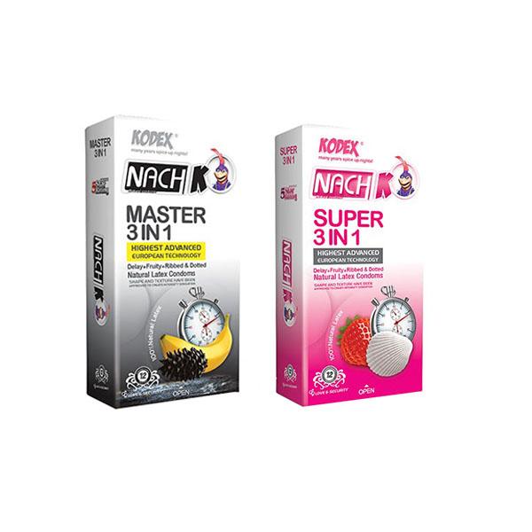 قیمت کاندوم کدکس مدل تاخیری و خاردار 3IN1 مجموعه 2 عددی